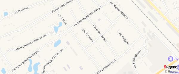 Улица Тукаева на карте села Аргаяша с номерами домов