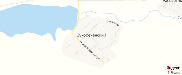 Карта Сухореченского поселка в Челябинской области с улицами и номерами домов
