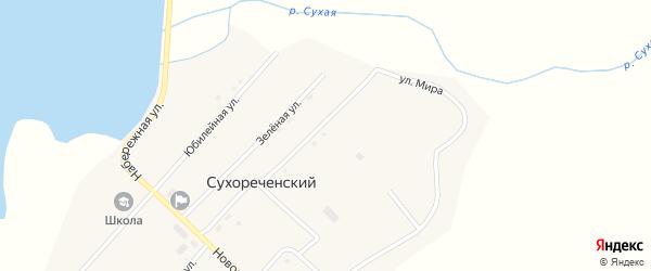 Улица Мира на карте Сухореченского поселка с номерами домов