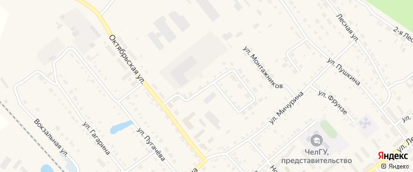 Улица 60 лет СССР на карте села Аргаяша с номерами домов