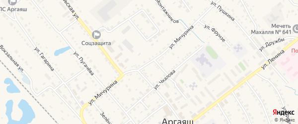 Улица Мичурина на карте села Аргаяша с номерами домов
