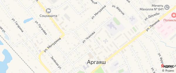 Улица Чкалова на карте села Аргаяша с номерами домов