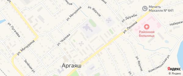 Улица Черняховского на карте села Аргаяша с номерами домов