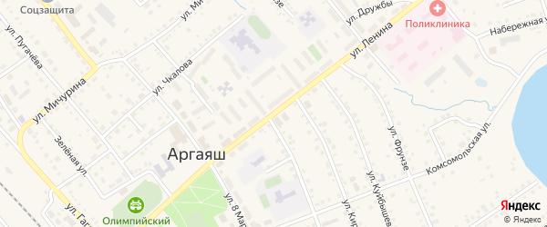 Улица Ленина на карте села Аргаяша с номерами домов