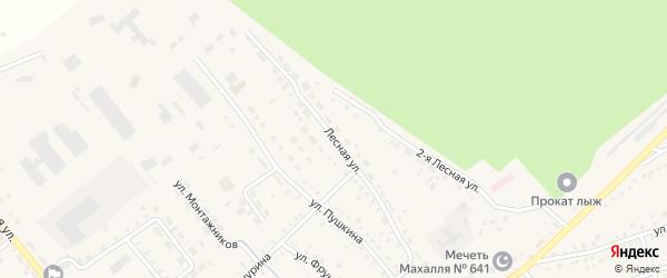 Лесная улица на карте села Аргаяша с номерами домов