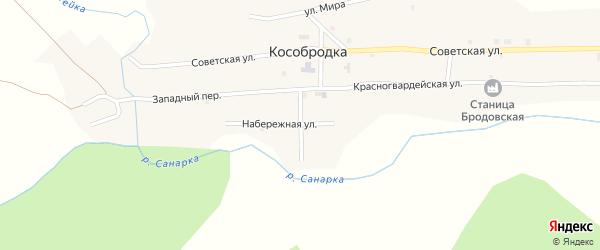 Речной переулок на карте села Кособродки с номерами домов
