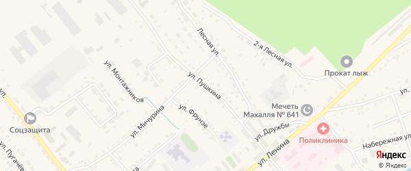 Улица Пушкина на карте села Аргаяша с номерами домов