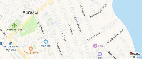 Улица Кирова на карте села Аргаяша с номерами домов