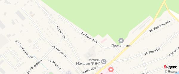 Лесная 2-я улица на карте села Аргаяша с номерами домов