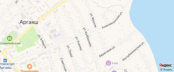 Улица Куйбышева на карте села Аргаяша с номерами домов