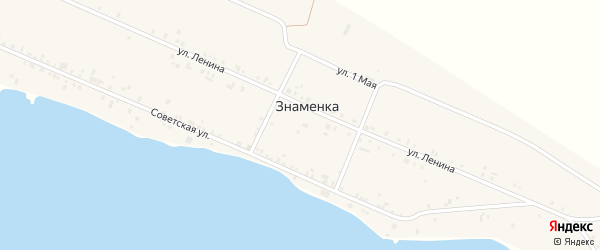 Западная улица на карте деревни Знаменки с номерами домов