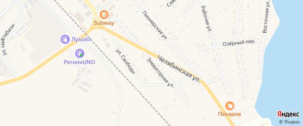 Элеваторная улица на карте села Аргаяша с номерами домов