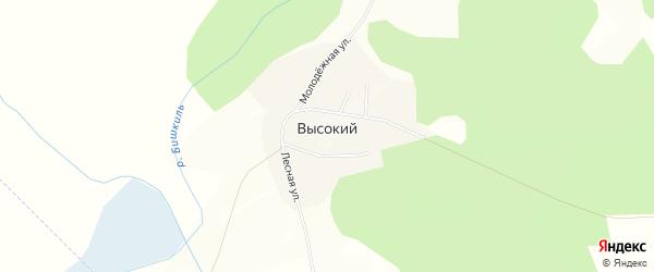 Карта Высокого поселка в Челябинской области с улицами и номерами домов