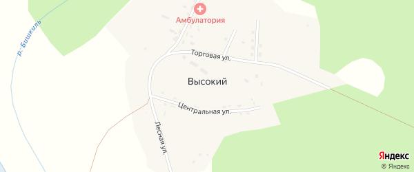 Торговая улица на карте Высокого поселка с номерами домов