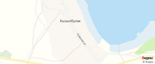 Озерная улица на карте деревни Кызылбулака с номерами домов