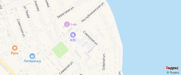 Совхозная улица на карте села Аргаяша с номерами домов