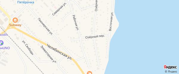 Озерный переулок на карте села Аргаяша с номерами домов