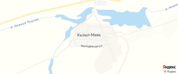 Карта поселка Кызыла-Маяка в Челябинской области с улицами и номерами домов
