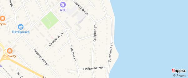 Озерная улица на карте села Аргаяша с номерами домов