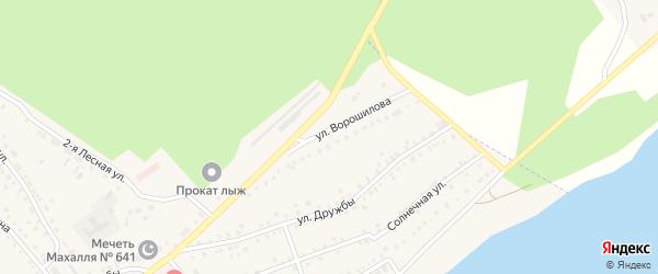 Улица Ворошилова на карте села Аргаяша с номерами домов