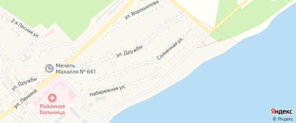 Солнечная улица на карте села Аргаяша с номерами домов