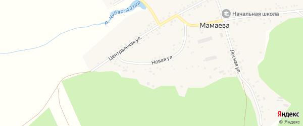 Новая улица на карте деревни Мамаева с номерами домов