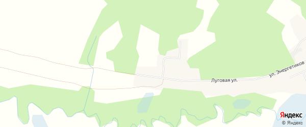 Карта Молодежного поселка города Магнитогорска в Челябинской области с улицами и номерами домов
