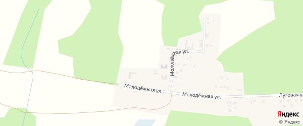 Территория ГСК Молодежный на карте Касли с номерами домов