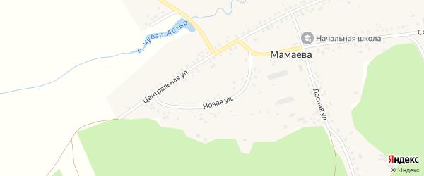 Солнечная улица на карте деревни Мамаева с номерами домов