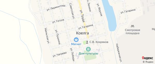 Советская улица на карте села Коелга с номерами домов