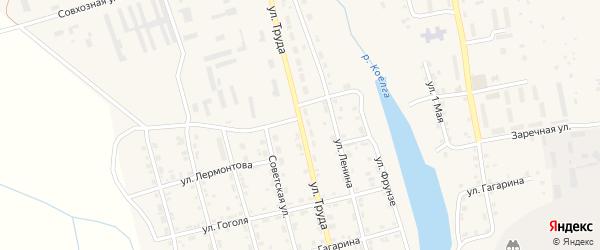 Улица Труда на карте села Коелга с номерами домов