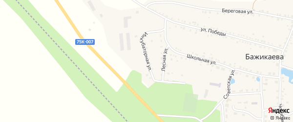 Инкубаторная улица на карте деревни Бажикаева с номерами домов