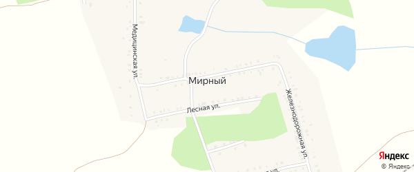 Железнодорожная улица на карте Мирного поселка с номерами домов
