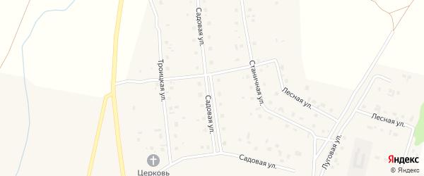 Садовая улица на карте села Коелга с номерами домов