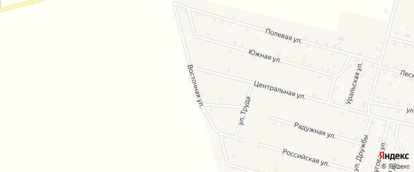 Восточная улица на карте деревни Камышевки с номерами домов