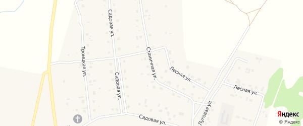 Станичная улица на карте села Коелга с номерами домов