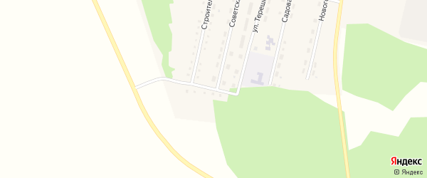 Строительный переулок на карте Худайбердинского поселка с номерами домов