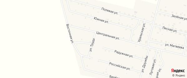 Улица Труда на карте деревни Камышевки с номерами домов