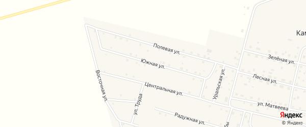 Южная улица на карте деревни Камышевки с номерами домов