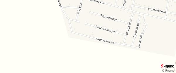 Березовая улица на карте деревни Камышевки с номерами домов