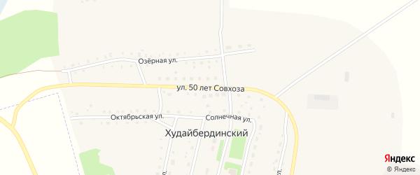 Улица 50 лет Совхоза на карте Худайбердинского поселка с номерами домов