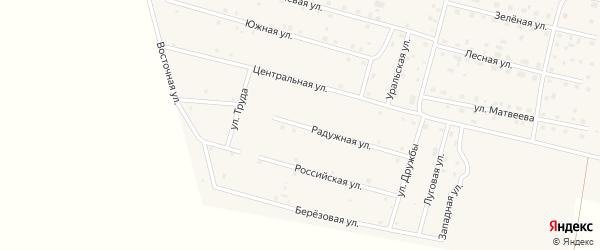 Радужная улица на карте деревни Камышевки с номерами домов