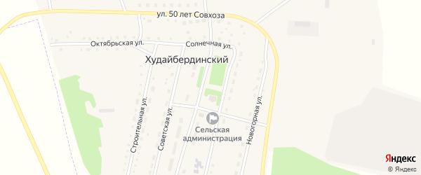 Центральная улица на карте Худайбердинского поселка с номерами домов