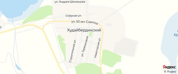 Карта Худайбердинского поселка в Челябинской области с улицами и номерами домов