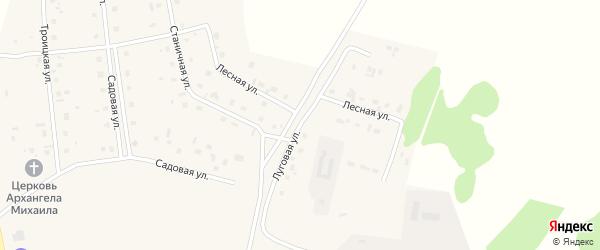 Луговая улица на карте села Коелга с номерами домов
