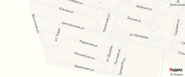 Улица Мира на карте деревни Камышевки с номерами домов