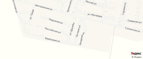 Улица Дружбы на карте деревни Камышевки с номерами домов