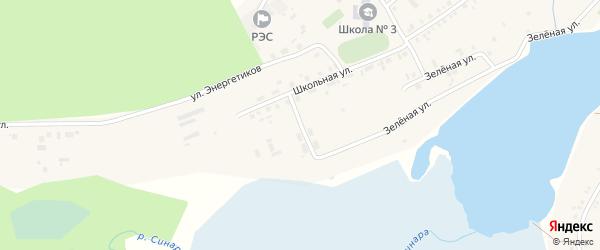 Заречная улица на карте села Тюбука с номерами домов