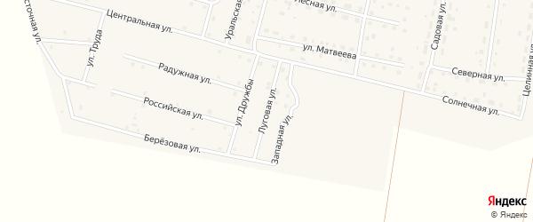 Луговая улица на карте деревни Камышевки с номерами домов