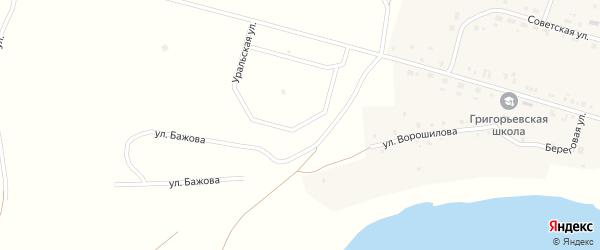 Уральская улица на карте деревни Григорьевки с номерами домов